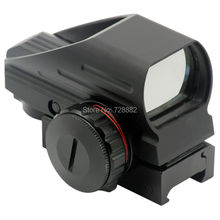 Tactical Holographic 4 Reticle Red Green Dot Reflex Sight Scope with 20mm Weaver Rail Mount Free Shipping