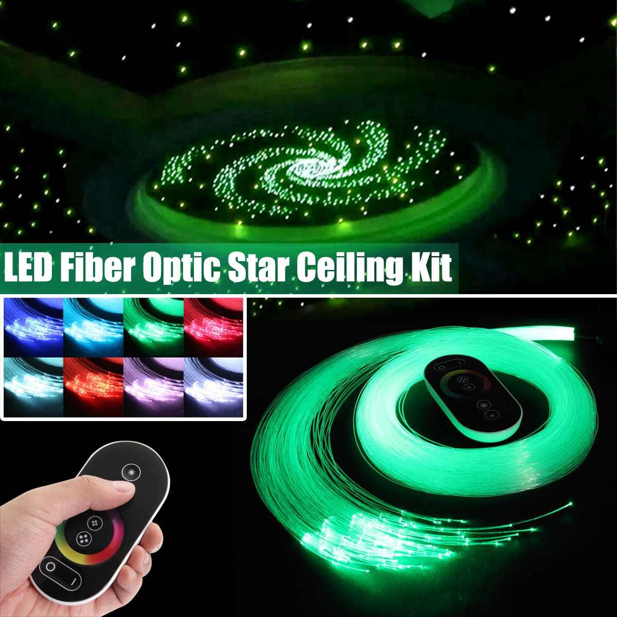 12 V 6 W RGB LED Fiber optique étoile plafond moteur ciel plafond Kit lumière 150 pièces 0.75 m 2 m Fiber optique scintillant + 28 clé sans fil RF