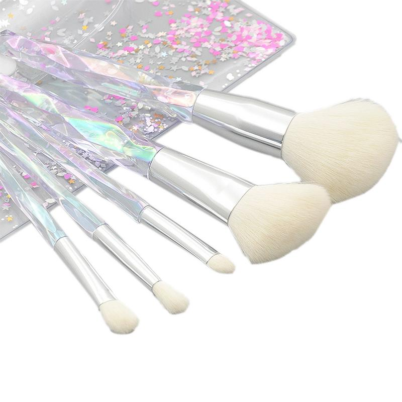 35259383020 New Women's Fashion 5 Pcs/set Clear Crystal Rhinestone Handle Makeup Brushes  Loose Powder Eye Brush Sets Tools-in Eye Shadow Applicator from Beauty &  Health ...