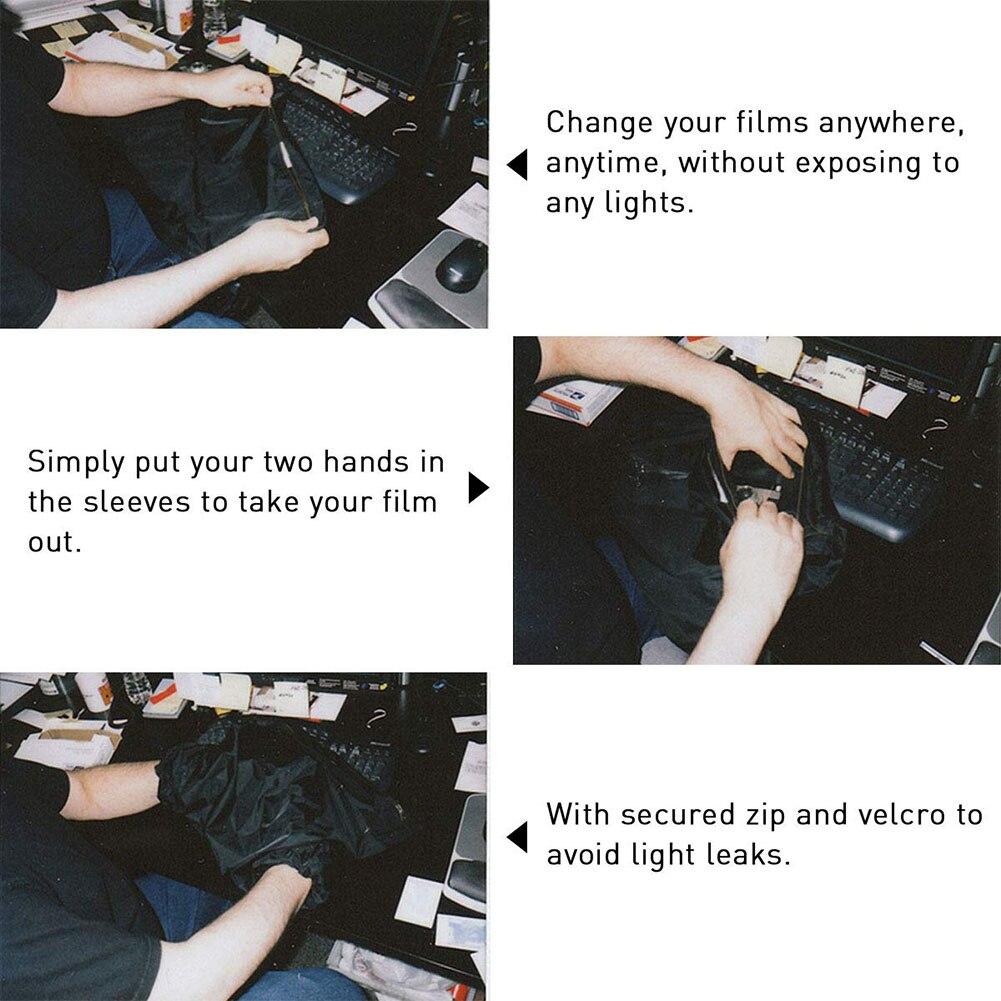 Anti estática darkroom saco desenvolvendo dupla camada portátil filme mudando fácil limpo prático zíper anti reflexão carga foto