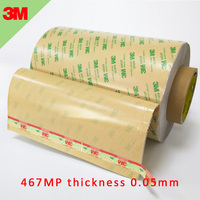 3M 467MP 200MP Adhesive Transfer Tape Clear 0.05mm Double Sided Adhesive Tape 12inch