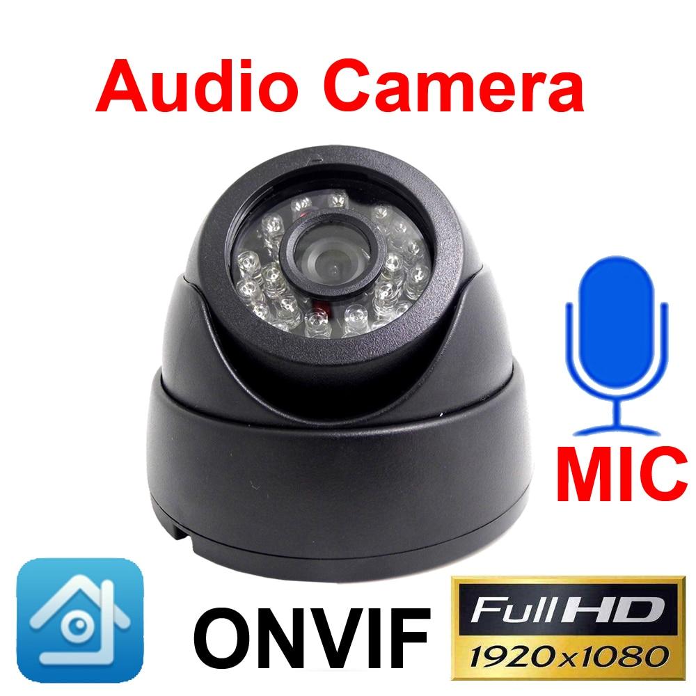 Áudio Da Câmera Ip 1080 P Cctv Segurança Video Surveillance 2MP Infravermelho Rede Ipc Onvif Night Vision Dome Câmera de Vigilância Em Casa