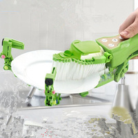 Handheld Cleaning Brushes Automatic Dish Brush Scrubber Antibacterial Dishwasher Kitchen Bowls Plates Cleaning Tool