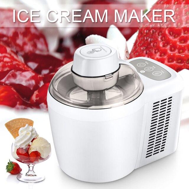 90 Вт 220 В автоматического Производители Мороженого фруктовый десерт машины без предварительного замораживания требуется фрукты машина мороженого чайник