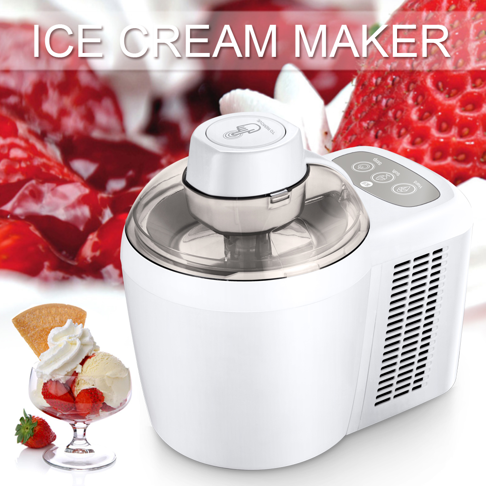 90W 220V Automatic Ice Cream Makers Fruit Dessert Machine no pre-freezing required Fruit Ice Cream Machine Maker new 120degree waterproof cube cob led light wall lamp modern home lighting decoration outdoor wall lamp aluminum 6w ac85 265v