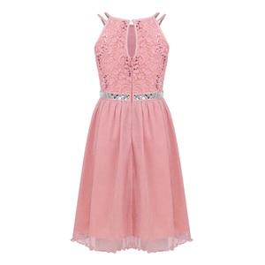 Image 3 - Iiniim adolescente meninas vestido, sem mangas lantejoulas rendas floral vestido brilhante vestido de festa para capina formal da festa de aniversário vestidos de verão