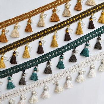 YY-tesco 15Yards 7cm Wide Curtain Fringe Trim Tassel  Trimming DIY Clothing Skirt Home Textile Decorative Curtain Lace Ribbon