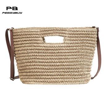 Summer Women Weave Straw Beach bag Messenger Bags Shoulder Bucket Handbags clutch female women bag over shoulder bolsos mujer