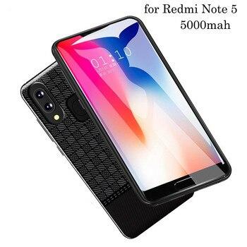Neng New 5000mah Smart Battery Charger Case For Xiaomi Redmi Note 5 Battery Case Cover Power Bank External Battery Phone