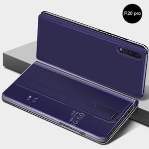 Image 4 - Innovativo Custodia protettiva del Cuoio di Vibrazione Della Copertura di Placcatura Specchio Curvo Del Basamento Anti Collisione Smart Phone Back Protector Per Huawei