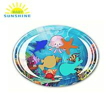 Baby Oval Colorful Inflatable Water Mat non-toxic Tummy Time baby mat Infant Child Development Center Water Cushion Pat Pad(China)