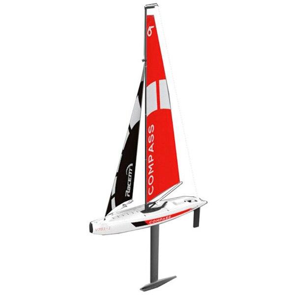 65CM 4CH RC bateau 2.4GHz sans fil télécommande jouet 4CH RC bateau boussole pré-assemblé voilier sans batterie jouet