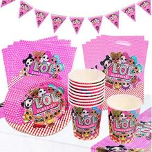 Surprise Dolls Party Disposable Tableware Plate Napkins Banner Invitation Cards Birthday Candy Box Baby Shower