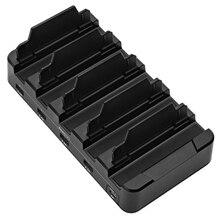 Foldable Pvc 5-Port Usb Charger Bracket Multi-Port Usb Type C Mobile Phone Pc Tablet Smart Desktop Charging Station——Eu Plug цена