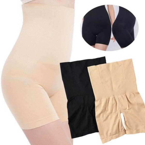 Women High-Waisted Shapermint Shapewear Shaper Shorts Slim Elastic Body Shaper XRQ88