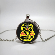 Cobra Kai Glass necklace handmade private photo DIY jewelry custom gift Longwei kid