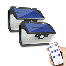 800LM 55LED Solar Light PIR Motion Sensor Outdoor Garden Wall Lamp USB Rechargeable Remote Control LED Solar Light