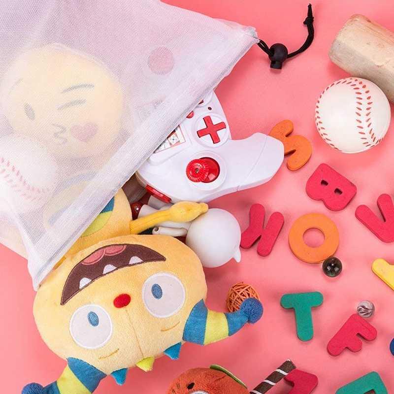 Многоразовые производят сумки из прозрачного сетчатого полиэстера, сохраняют овощи свежими и хранение игрушек