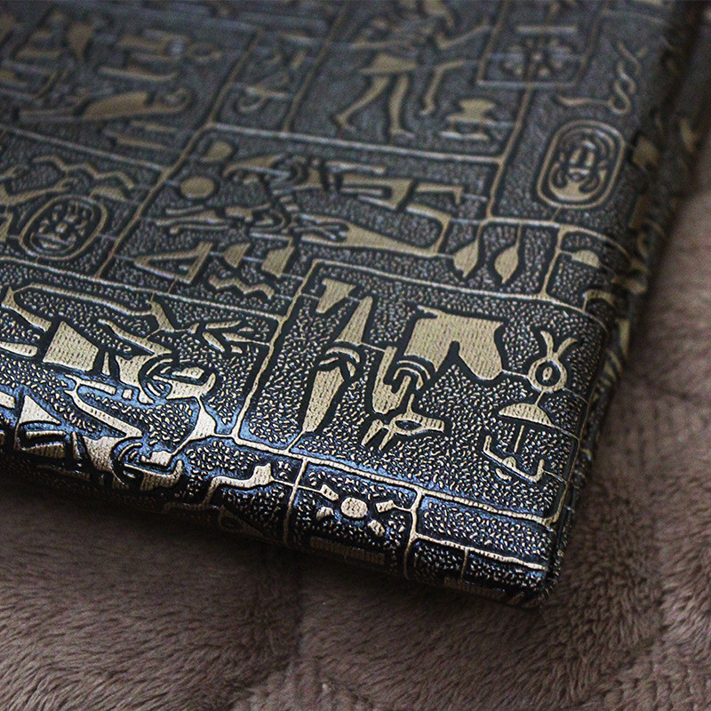 Lychee vida a4 preto cobre couro egípcio tecido de couro do plutônio diy artesanal costura pano suprimentos acessórios