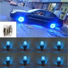 8 шт. синий светодиодный Авто колеса шины крышка на стержень клапана шины светильник лампа украшение