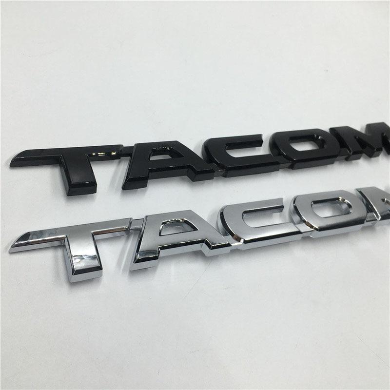 1x TACOMA for 2005-2015 Toyota Tacoma Door Tailgate Emblem Badge Stick Black
