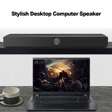 SADA V-193 USB Wired Computer Speaker SoundBar Stereo Subwoofer Bass Surround Sound Box 3.5mm Audio Input for PC Smartphone MP4(China)