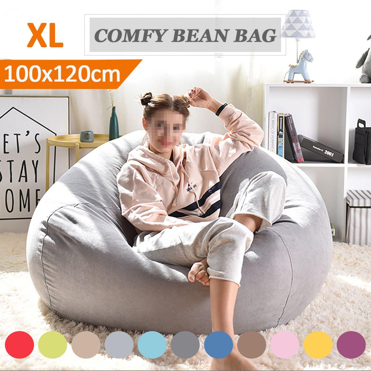 Lazy BeanBag Sofas Cover Chairs without Filler Linen Cloth Lounger Seat Bean Bag Pouf Puff Couch Tatami Living Room Furniture dřevěné dekorace do dětského pokoje