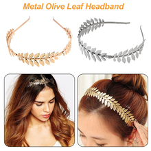 Fashion Gold Plated Metal Leaf Headband Hairband for Women Wedding Hair Accessories Tiara Elegant Silver Leaves Head Piece stylish gold plated filigree pumpkin car hairband for women