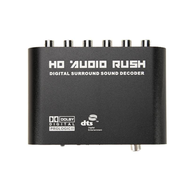 DTS AC3 5.1 CH SPDIF Coaxial Digital Audio DTS/AC-3 to 5.1 Analog Decoder Converter RCA Output Adapter Surround Sound DecorderDTS AC3 5.1 CH SPDIF Coaxial Digital Audio DTS/AC-3 to 5.1 Analog Decoder Converter RCA Output Adapter Surround Sound Decorder