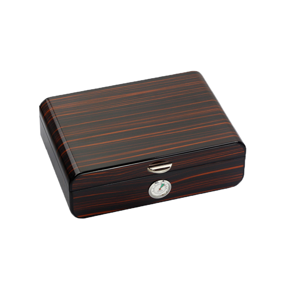 GALINER Desk Glossy Cedar Cigar Humidor Wood Box Cabinet Humidor Cigar Accessories With Humidifier Hygrometer