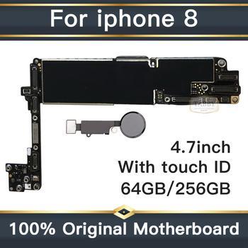 100% разблокированная Логическая плата для iPhone 8, оригинальная материнская плата для iPhone 8 с сенсорным ID чистым iCould ID с полным чипом