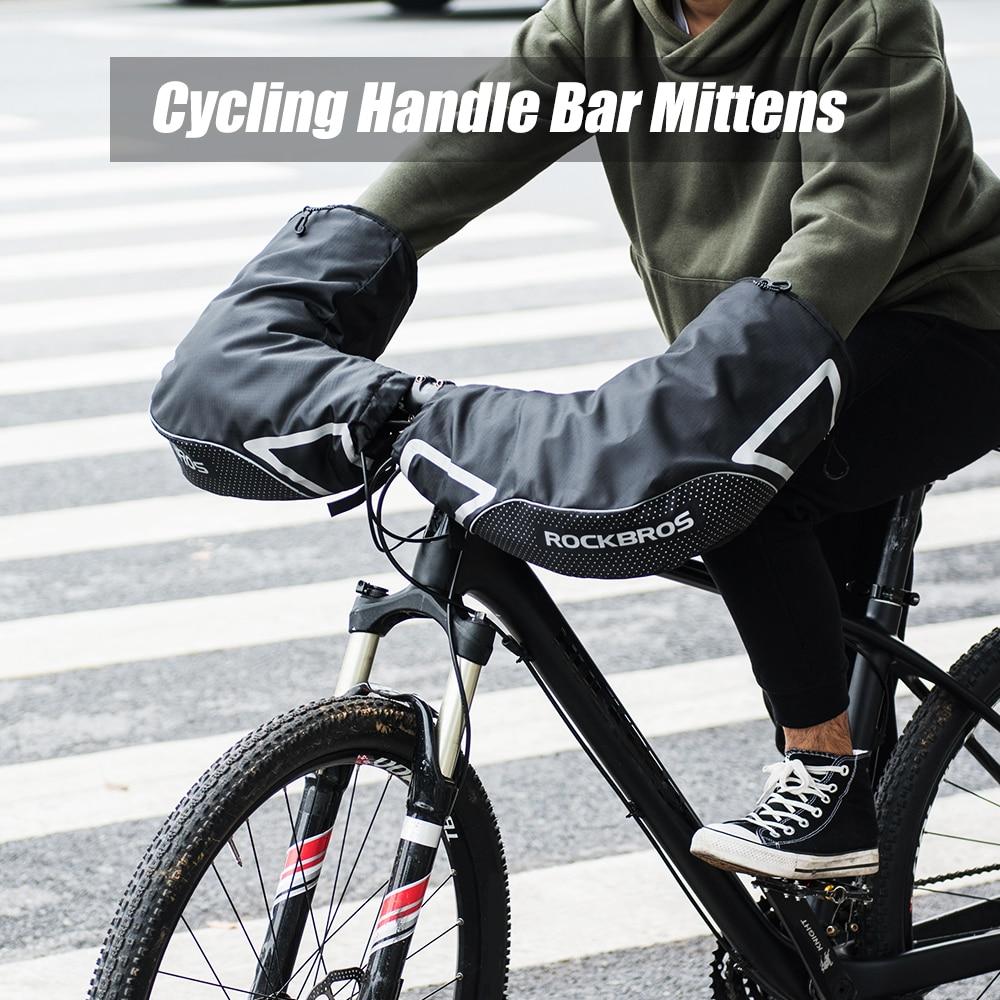 Lixada Cycling Gloves Winter Warm Gloves Wind Rainproof Handlebar Mittens MTB Handlebar Gloves Mitts for Bicycle Safety Mountain Bike Road Bike Unisex