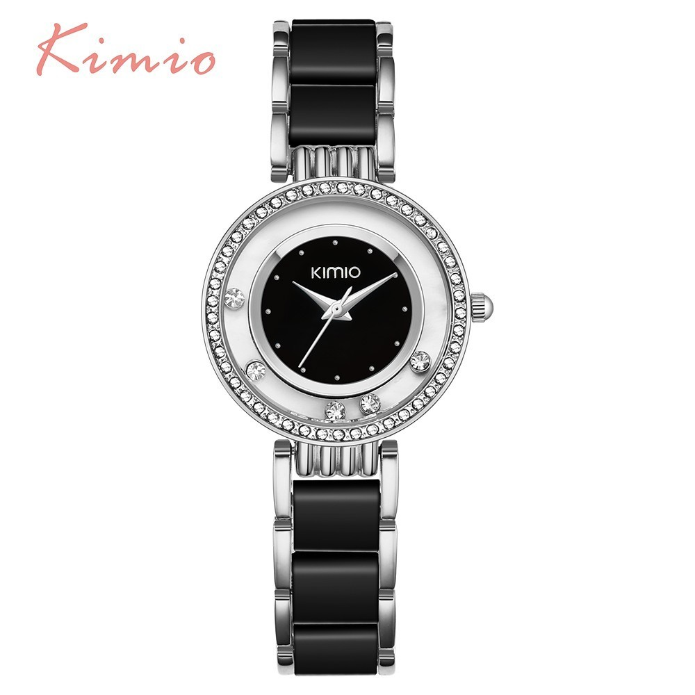 KIMIO Women Watch Fashion Crystal Diamond Rolling Rhinestone - Կանացի ժամացույցներ - Լուսանկար 3