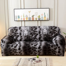 Leopard/Plaid Pattern Sofa Cover Slip-resistant Old Sofa Protective Slipcover Couch Cover Sectional Sofa Covers For Living Room(China)