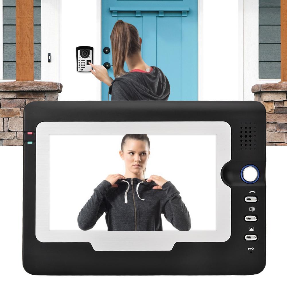 7in видео телефон двери внутренняя Проводная связь дверной звонок комплект пароль по отпечатку пальца разблокировка 2019