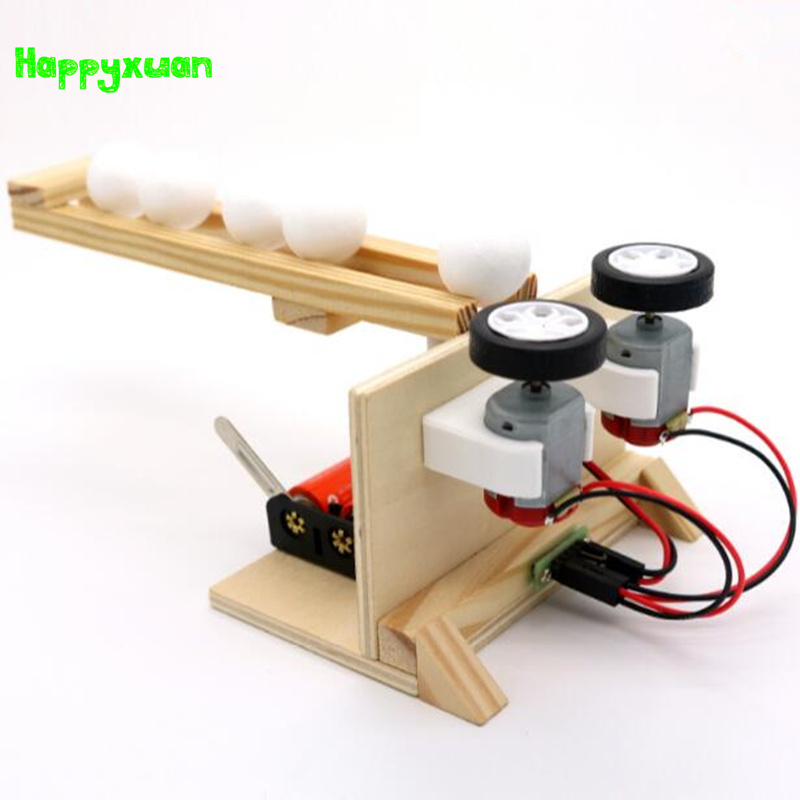 Happyxuan DIY Small Ball Emitter Children Science Experiment Kits Assemble Electric Model Kids Inventions Educational Toy electric taxiing aircraft model accessories diy science and technology small inventions scientific experiments science toys