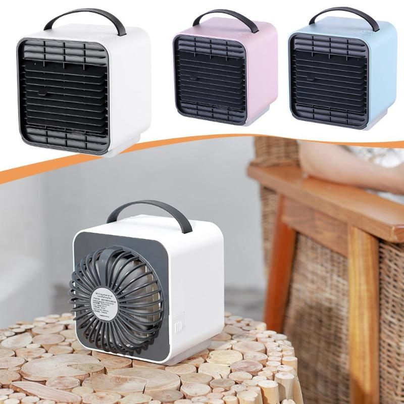 Mini Air Cooler USB Desktop Air Cooling Fan Negative Ion Air Conditioner for Home Office Portable Air Fan