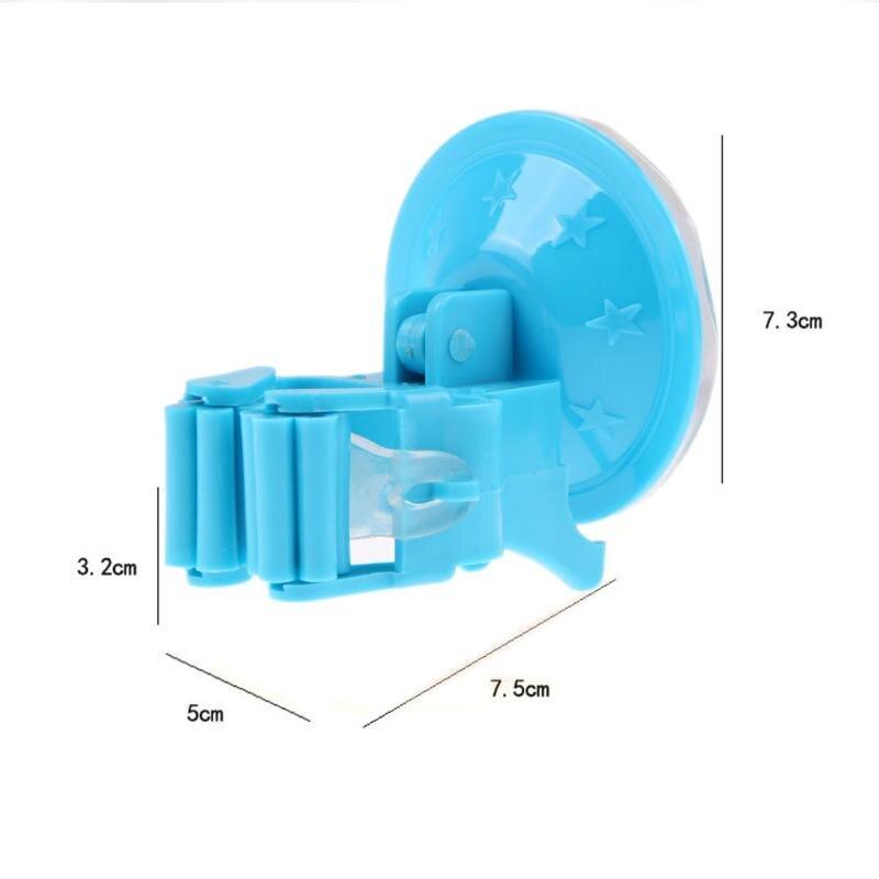 Пластиковая Швабра Метла держатель Вешалка домашняя кухонная для хранения метла Органайзер настенный пять цветов присоска