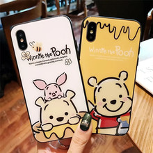 Cute Cartoon Winnie Pooh Bear Phone Case For iPhone 7 7 Puls 6 6S 7 8