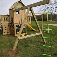 Children Outdoors Swing Slide Climbing Rope Ladder 6 Speed Plastic Climbing Rope Ladder 2 Meters High Swing Set Accessory