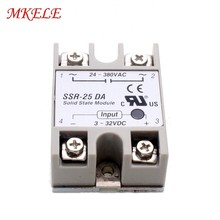 цена на Free Shipping Solid State Relay MK-SSR-25DA 25A 3-32VDC To 24-380VAC SSR 25DA Hot Sale From China