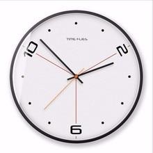 New 3D Wall Clock Silent Movement Simple Digital Modern Design 30cm 35cm Quartz Circular Duvar Saati Home