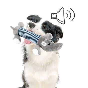 Пищащая Жевательная деталь, куклы, собака, кошка, флисовый питомец, слон, утка, свинья, подходит для всех домашних животных, долговечность