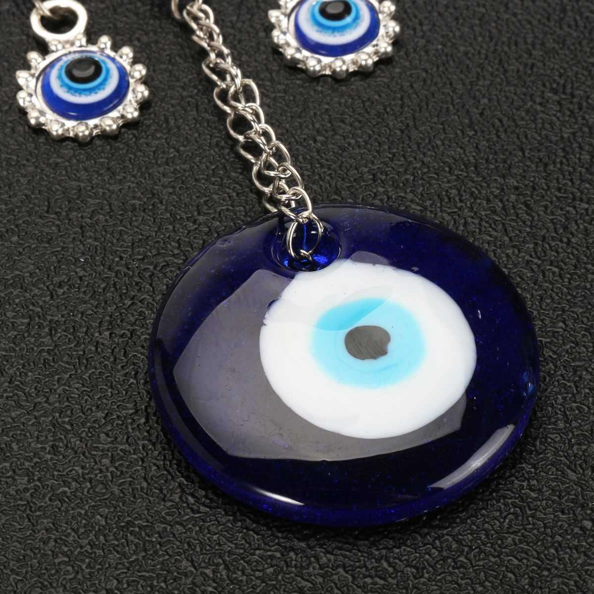 20*8cm Turkish Blue Glass Evil Eyes Wall Hanging Pendant Butterfly Lucky Protection Hamsa Hand Amulet Home Car Office Decoration