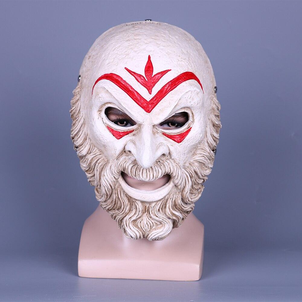 Jeu Assassin AC Zeio Creed Odyssey hiérarque masque résine Cosplay accessoires Halloween accessoires bal fête résine masque cadeau