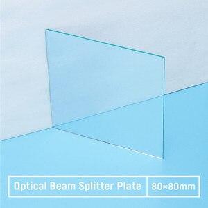 1 шт. 50R/50T оптический луч сплиттер пластина оптический лазерный объектив 80*80*1,1 мм
