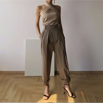 TWOTWINSTYLE Solid Sleeveless Sexy Women Sweater Halter Off Shoulder Slim Knitted Tops Female Fashion Summer 2019 New Tide 6