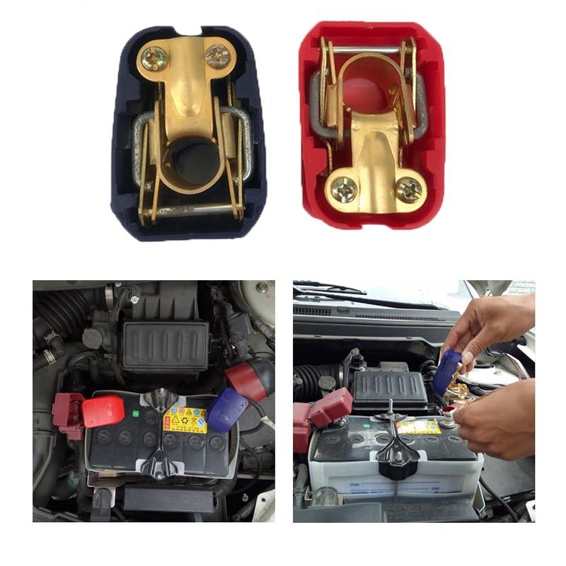 2 pcs univerisal 자동 자동차 12 v 퀵 릴리스 배터리 터미널 커넥터 클램프 이동식 배터리 클램프