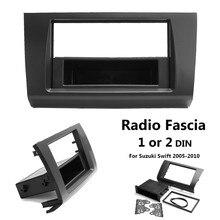 1 o 2 Din Car Stereo Radio Fascia Piastra del Pannello Telaio DVD CD Audio del Pannello GPS Dash Kit di Montaggio Adattatore per Suzuki Swift 2005-2010