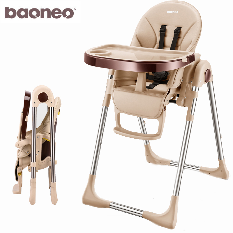 Baoneo Russian Free Shipping Authentic Portable Baby Seat Baby Dinner Table Multifunction Adjustable Folding Chairs For Children(China)